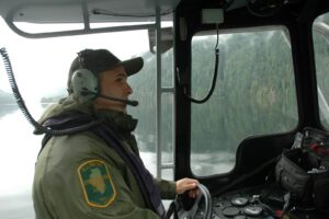 game warden on boat